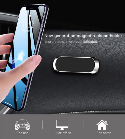 Universal Mini Magnetic Car Mobile Holder Dashboard Car Mount Holder Magnetic Mobile Phone Wall Mount Holder