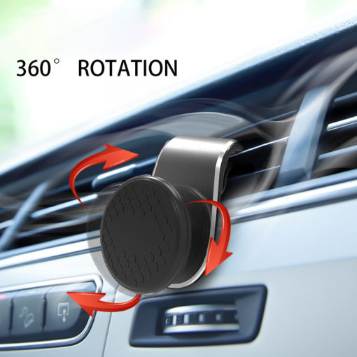 360 Rotation Magnetic Car Phone Holder Metal Magnetic Universal Air Vent Outlet Holder Phone Navigation Holder Stand