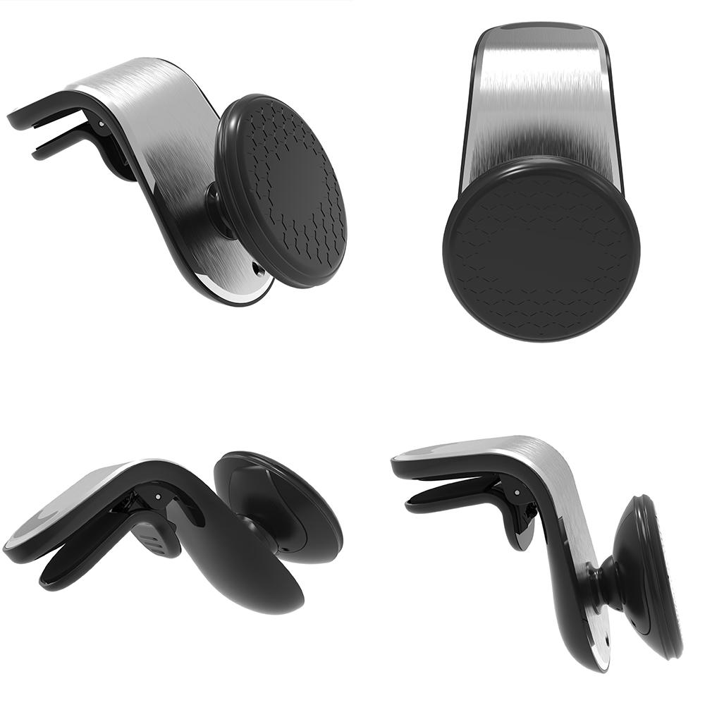 360 Rotation Magnetic Car Phone Holder Metal Magnetic Universal Air Vent Outlet Holder Phone Navigation Holder Stand