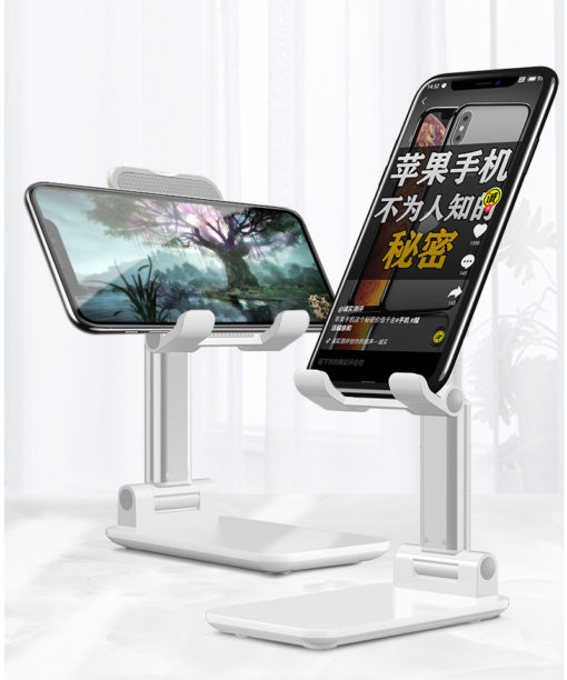 2020 Universal Angle Adjustable Foldable Mobile Phone Desktop Stand Aluminum Alloy Tablet Cell Phone Stand Holder