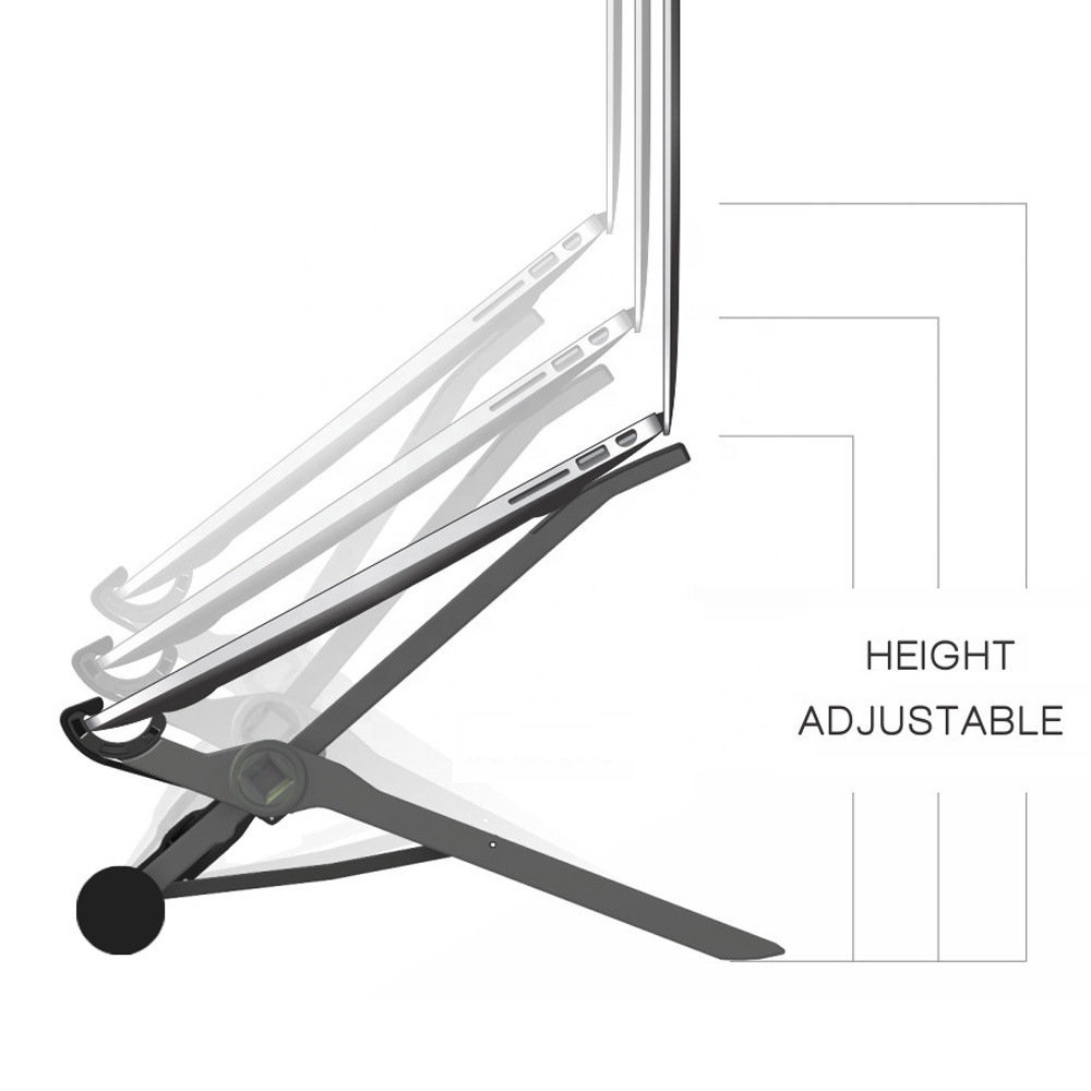 Adjustable Height Laptop K2 Nexstand/Tablet stand holder Foldable Laptop Desk Collapsible Strong Stability Suit For Over 16inch