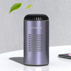 UVC Disinfection Lamp Air Purifier HEPA Filter Negative Ion Air Purification UV Sterilization Air Cleaner USB/Wireless Charging
