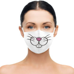 3D digital printing adjustable custom face mask washable reusable mask fashion party DIY earloop mask